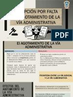 Diapositivas - Excepción Por Falta de Agotamiento de La Vía Administrativa (1)
