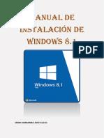Manual de Instalación de Windows 8.1
