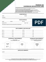 Ironman Suspension Installation Form