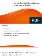Attribution of Electronic Records