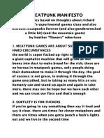 meatpunk manifesto