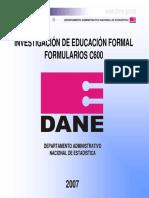 Capacitacion Formularios C600 07 DANE