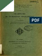 Cantineau Palmyrénien