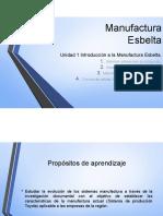 Manufactura Esbelta Introduccion, Antecedentes y Origenes