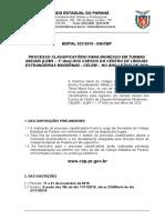 Edital 021 CELEM Para 2020