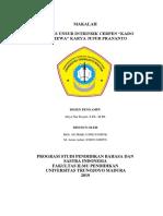 Makalah Bhs.indonesia Analisis Cerpen