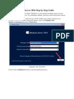 Install Windows Server 2016 Step by Step Guide