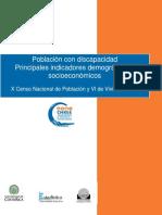 Poblacion Con Discapacidad -Indicadores Demograficos-socioeconomicos