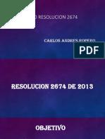 Trabajo Resolucion 2674 Carlos Ropero