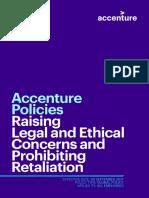 Accenture Raising Legal and Ethical Concerns and Prohibiting Retaliation