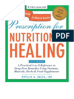 [2010] Prescription for Nutritional Healing, Fifth Edition by Phyllis A. Balch CNC |  A Practical A-to-Z Reference to Drug-Free Remedies Using Vitamins, Minerals, Herbs & Food ... A-To-Z Reference to Drug-Free Remedies) | Avery
