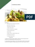 informe alimenticio