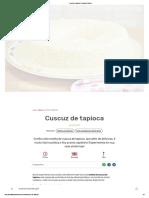 Cuscuz de Tapioca - Guia Da Cozinha