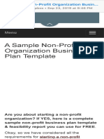 A Sample Non-Profit Organization Business Plan Template  ProfitableVenture.pdf