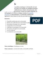 Citronnelle (Cymbopogon citratus) _ propriétés, bienfaits de cette plante en phy