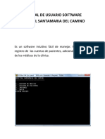 Manual de Usuario Software Hospital Santamaria Del Camino