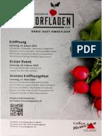 (Flyer) Dorfladen Frauenkappelen, Eröffnung 18.01.2020
