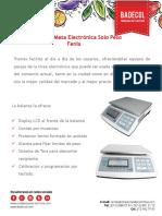Ficha Tecnica Balanza Digital