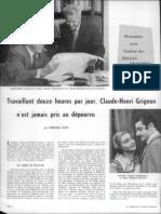 Le travail de l'écrivain Claude-Henri Grignon