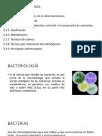 Unidad II Bacteriología