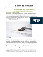 Combatir La Nieve de Forma Mas Ecologica