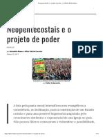 9 Neopentecostais e o Projeto de Poder - Le Monde Diplomatique