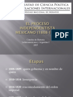El Proceso Independentista Mexicano (1808-1823)