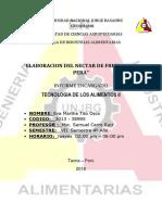 5to Informe de Laboratorio de Tenologia de Los Alimentos II Terminado y Entregado