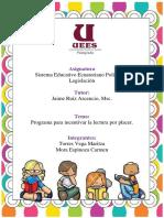 Programa Mejorar El Placer Por La Lectura