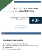 ANÁLISIS Y CÁLCULO DEL CONSUMO DE AGUA EN LA CONSTRUCCIÓN