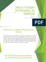 Democracia y estado intutucional de derecho