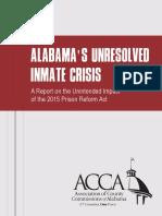 Alabama Counties Inmate Crisis Report