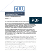 ACLU NAACP Letter to Unit 4