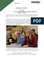 28-11-19 Coinciden Gobernadora y Secretaria de Gobernación en trabajo coordinado para beneficiar a municipios