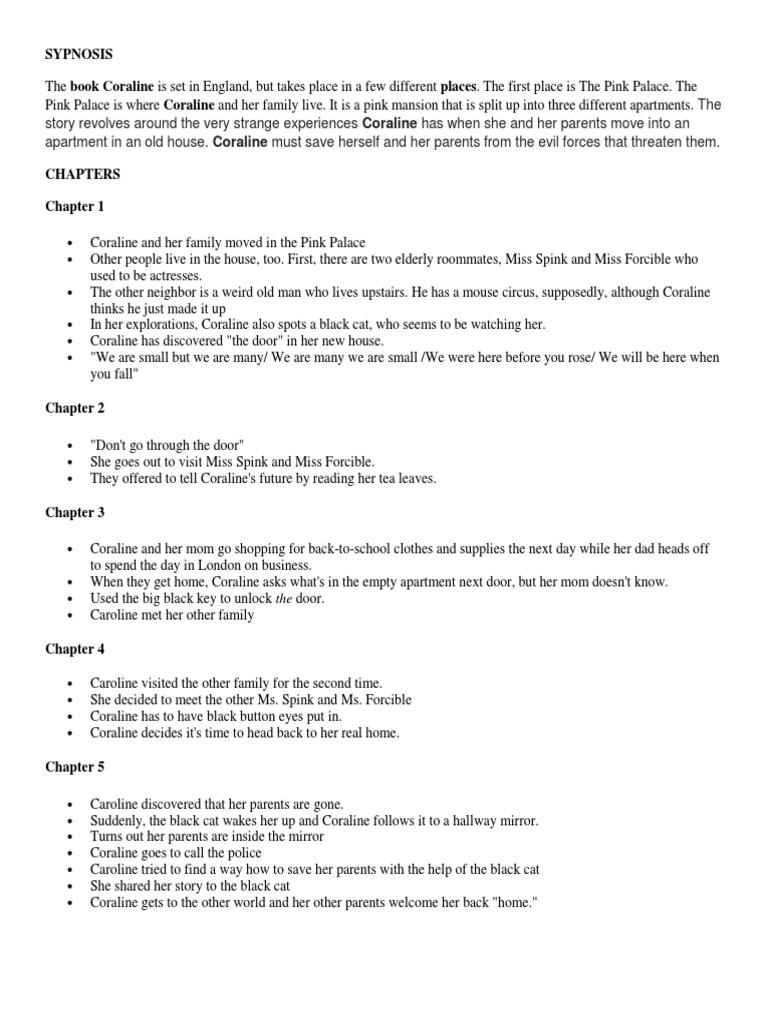 Summarized Coraline Docx