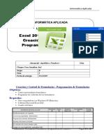 Lab 16 - Excel-Creación de Formularios y Programación de C.