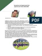 Ambassadrices en Métropole du Rugby Social Club NC 2019