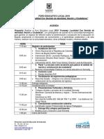 Agenda Foro Local 2019 Presentador