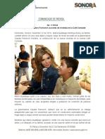 Entrega Gobernadora Pavlovich acciones de vivienda en la Café Combate
