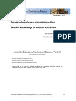 Saberes docentes en educación médica