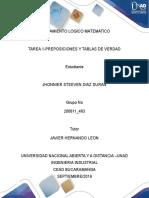 200611 463 Tarea 1 Jhonnier Steeven Diaz pensamiento logico matematico