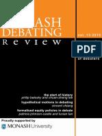 Monash Debating Review-V13