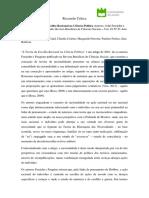 Recensão Crítica EPD - Teoria Escolha Racional