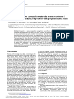 Manufacture of fiber composite materials musa acuminate l. prepared by the randomized position with polymer matrix resin