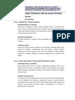 3.-Especificaciones Tecnicas - Agua Potable