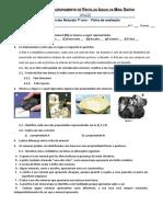 1- Ficha de Avaliação - Minerais e Paisagens