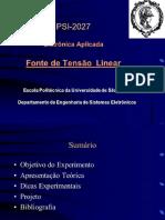 DocSlide.org-PSI-2027 Eletrônica Aplicada Fonte de Tensão Linear