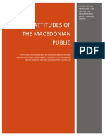Report on the phone survey on the general attitudes of the Macedonian public