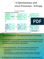 Spontaneous and Nonspontaneous Processes - Entropy