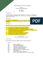 Reglamento General de Gestión Ambiental RGGA